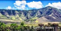 Oahu Mountain Range from West Coast Side