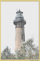 Corola Lighthouse (Currituck) Pens sketch