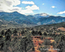Rocky Mountains from Garden of the Gods