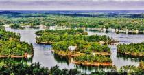 1000 Island Area near New York State