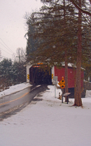 Covered Bridge in a Snow Storm