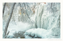 """Frozen"" Lil Spearfish Falls with a Touch of Fog"