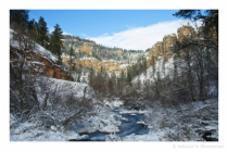 Downstream from Roughlock Falls with Snow