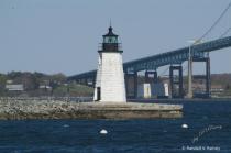 Newport R.I. Lighthouse on Goat Island