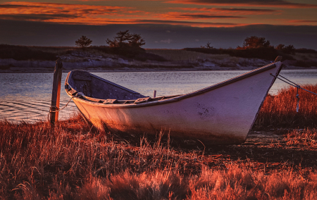 Morning Light on Dinghy.