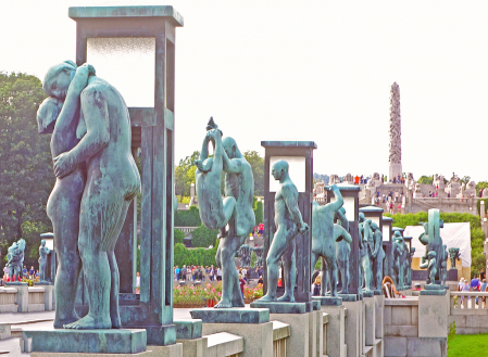 Frogner park and Sculptures, Oslo.