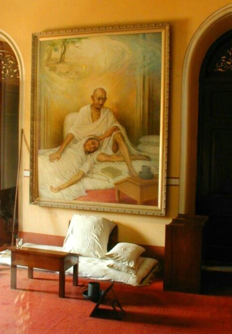 Room When Gandhi's Wife Died