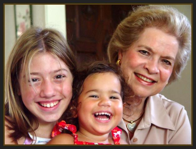 With Grandma, Abi.