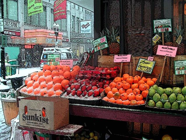 Chilled Fruit  , Filene's, Boston