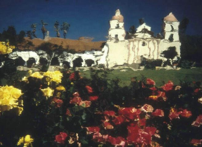 Santa Barbara Mission Facade