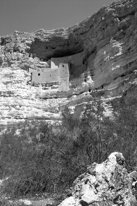 Montezuma's Castle BW