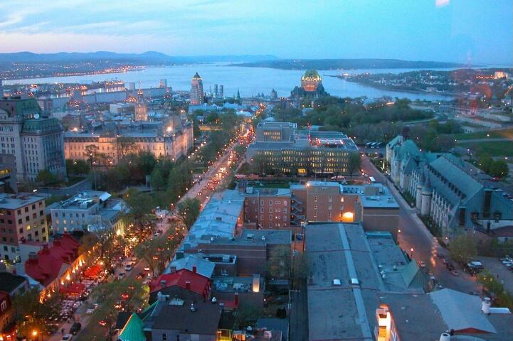 Quebec City,   21th floor View