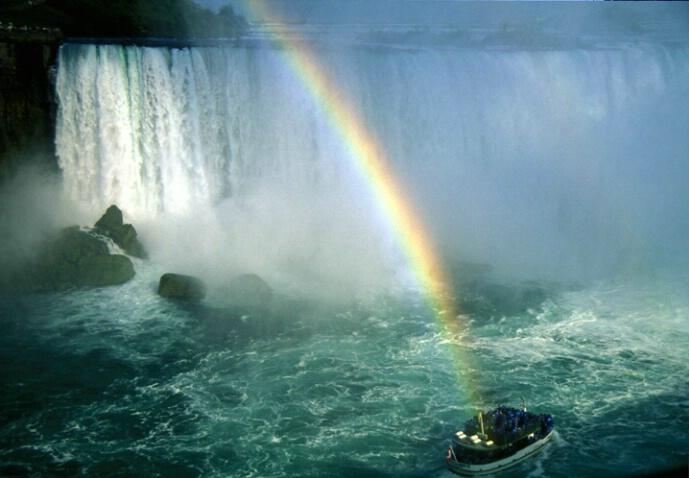 Niagra Falls, rainbow gold