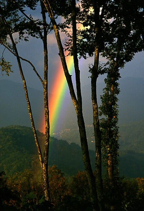 Rainbow over Burnsville NC