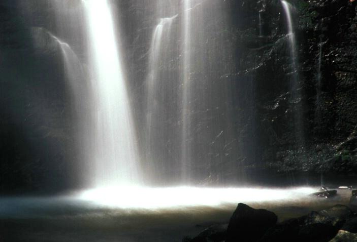 Crabtree Falls..shining light