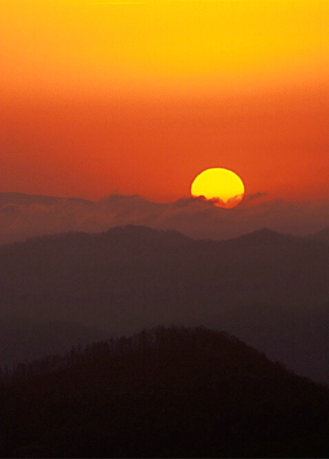 Sunset from Slickrock Mnt, NC
