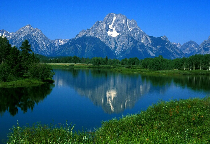 Tetons over Snake River