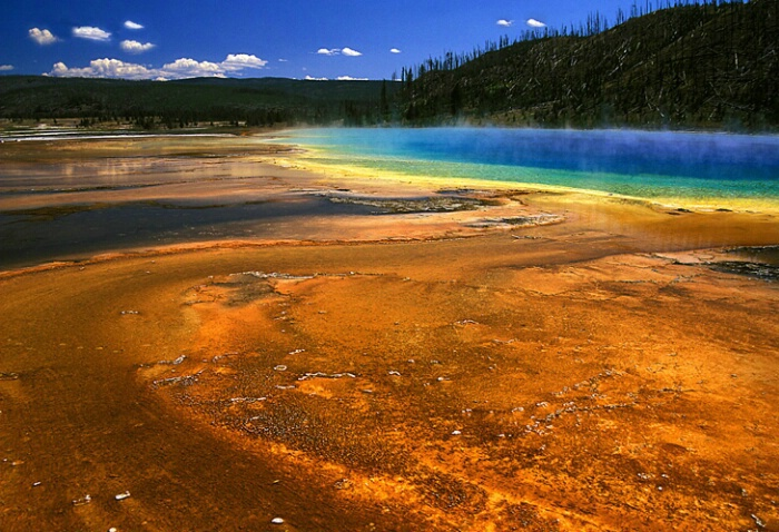 Prismatic springs, Yellowstone
