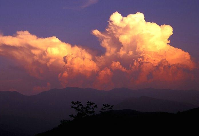 Thunderheads @ sunset