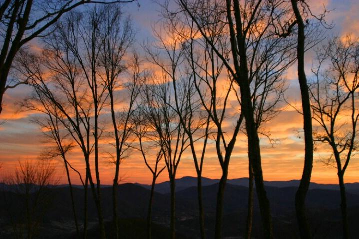 Sunrise over the Blue Ridge and Burnsville