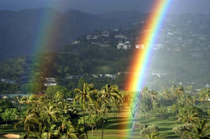 Double Rainbow Over Waialea Country Club