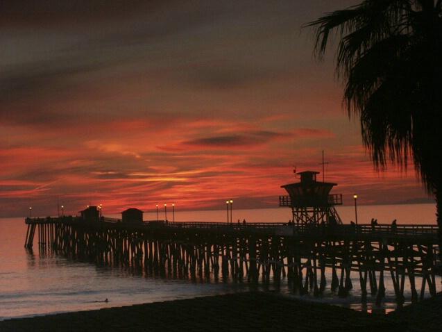 San Clemente Calif - Pier Sunset