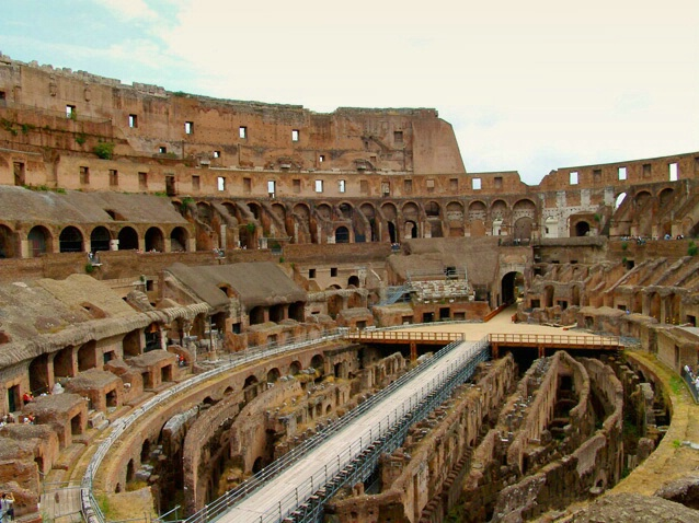 Inside 'The Gladiators Theater'