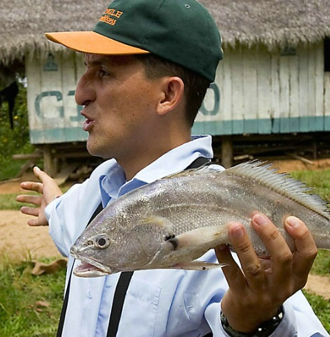 Fish Story on the Amazon in Peru