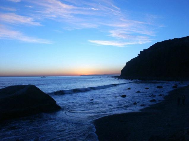 Headlands Sunset - Blue