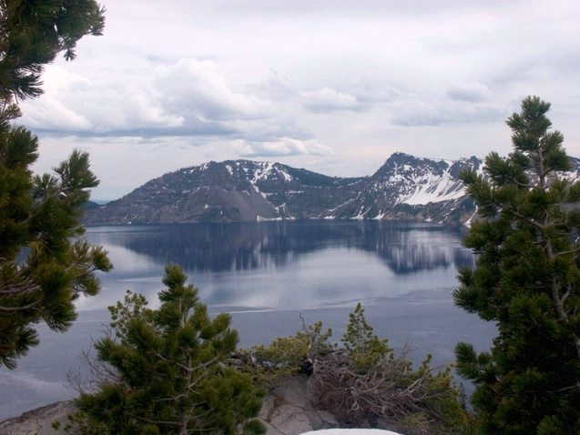 Crater Lake w/Trees