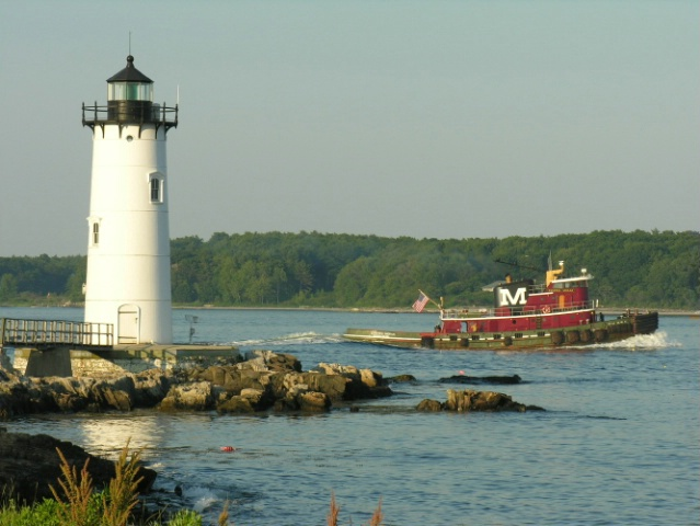 Portsmouth Harbor Light and Tug