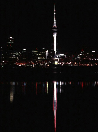 Skytower Auckland NZ  frm Nth Shore