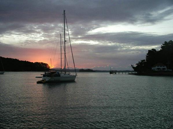 Squadron Bay Sunset NZ