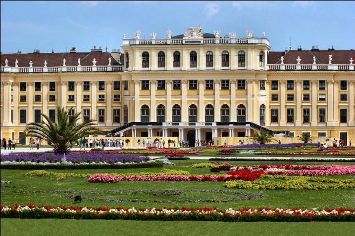 Schönbrunn Palace Garden View