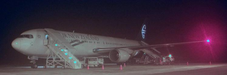 Air NZ 767/300 Rarotonga pano