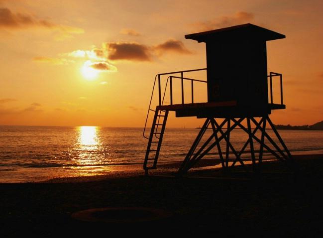 CB Tower Sunset