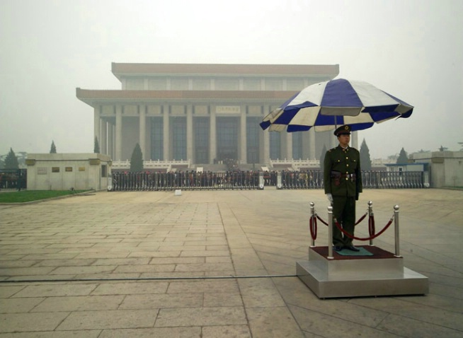 Standing Guard at Mao Tse Tung's Viewing