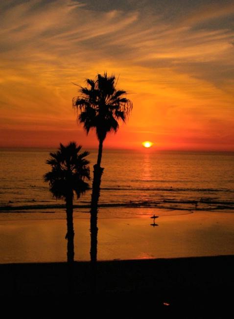 Two Palms Sunset w/srfr