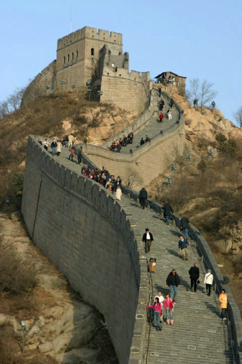 A dizzying perspective of the Great Wall