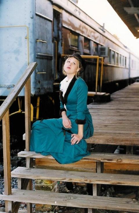 Train depot in Bagdad, Florida.