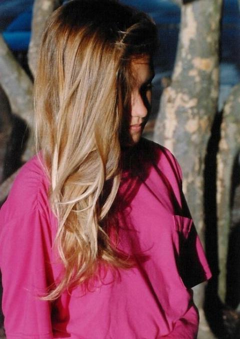 Saundra's hair.