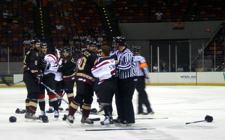 Ice Pilots fight - October, 2005.