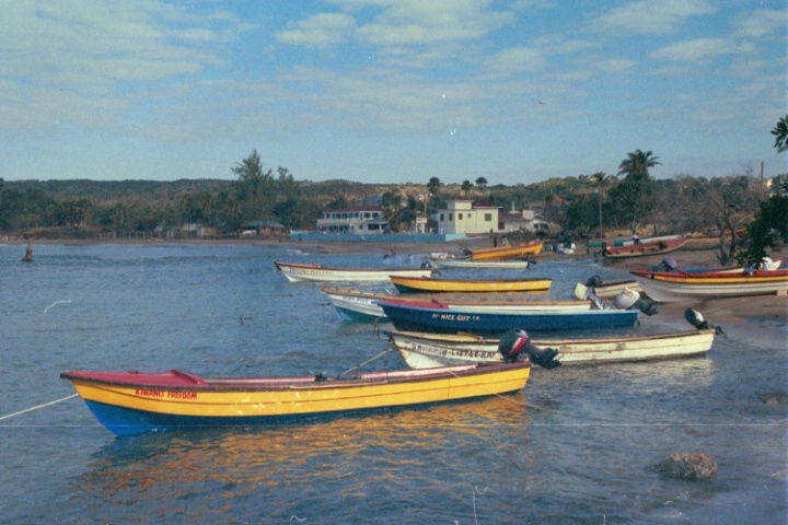 Treasure Bay fishing boats, Jamaica
