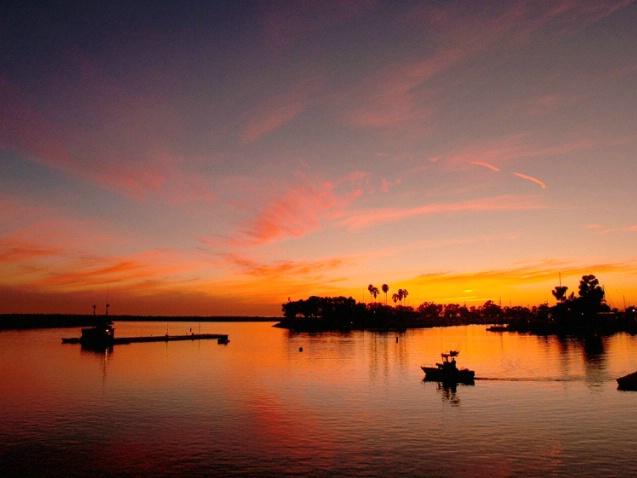 Go fishin at sunset
