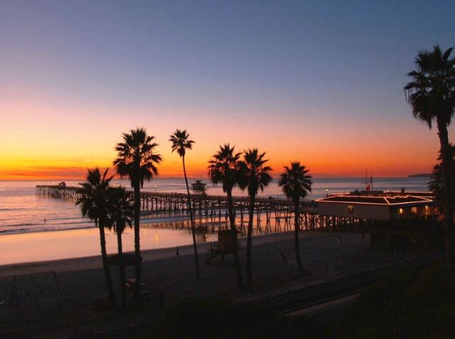 SC Pier Holidays Sunset