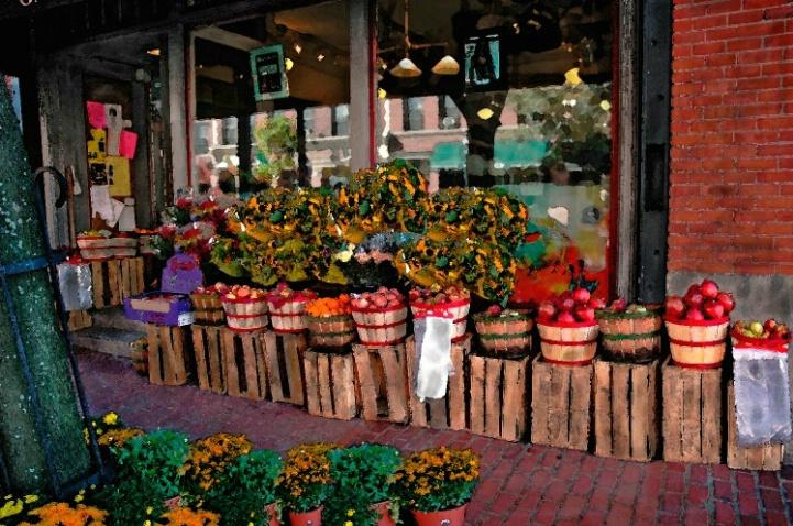 Fruit,Fruit,and Flowers, Charles Street,Boston