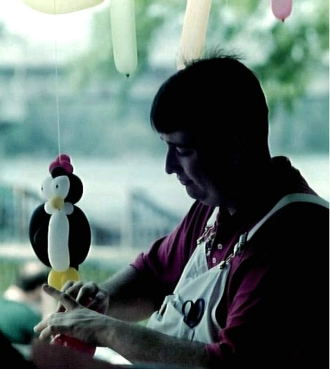 Balloon and his Man
