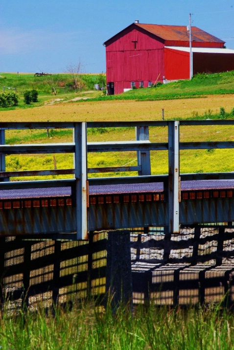 Red Barn & Bridge