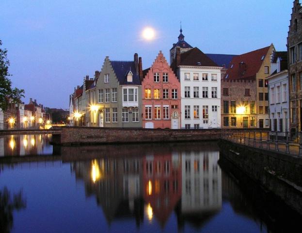 Moon over Bruges