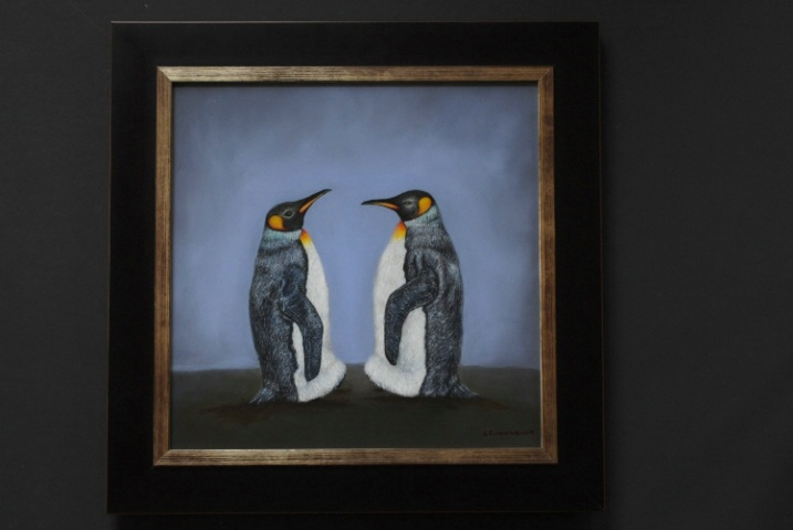 The Meeting-- King Penguins SOLD